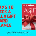 3 Ways to check a Vanilla Gift Card Balance