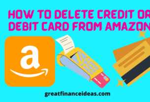 Delete Credit and Debit Card from Amazon