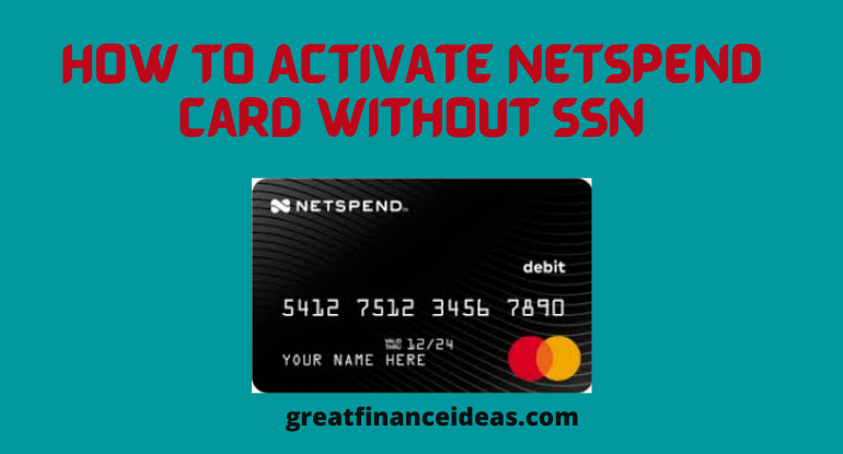 How to activate netspend card without SSN
