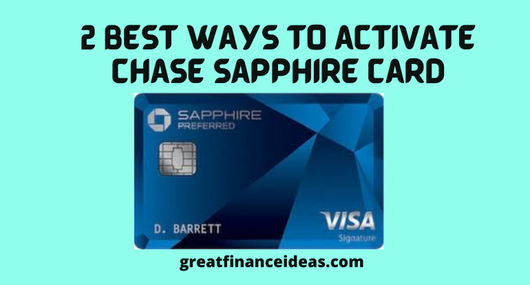 activate Chase Sapphire Card