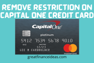 remove restriction on capital one credit card