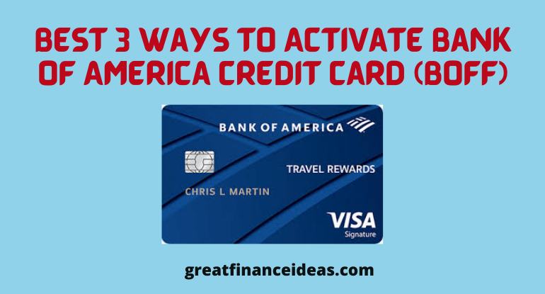Activate BofA Credit card