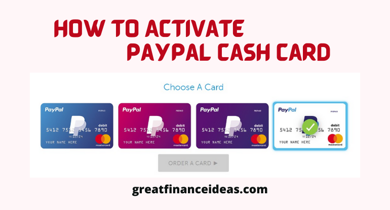 Activate PayPal Cash Card