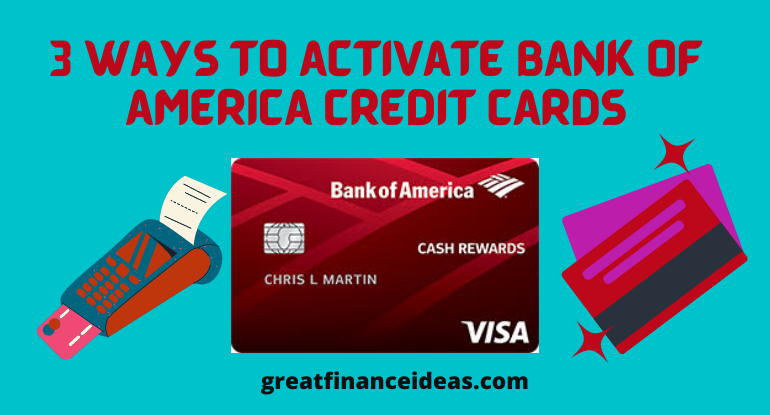 BofA credit card activation