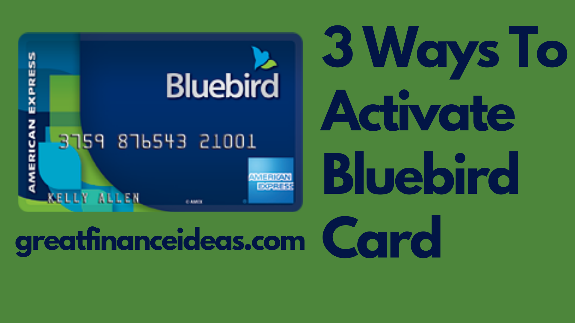 Activate Bluebird Card