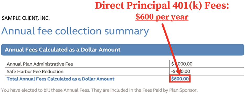 Find and Calculate Principal 401(k) Fees spreadsheet