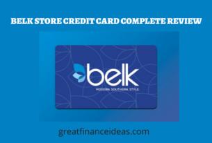 BELK STORE CREDIT CARD