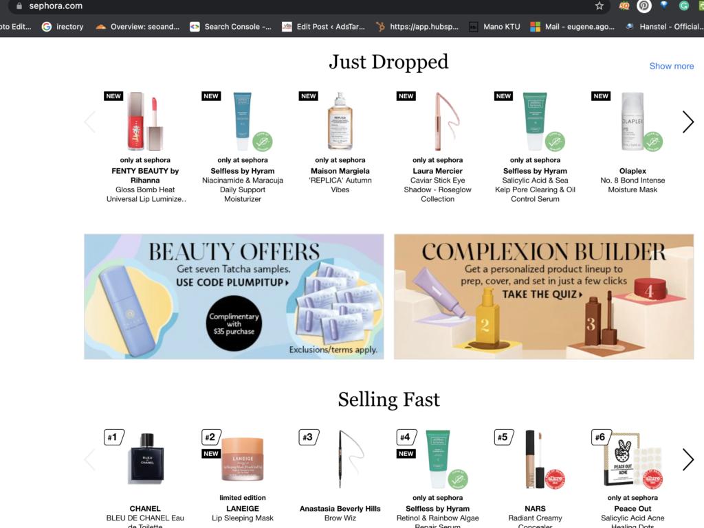 Sephora online beauty shop