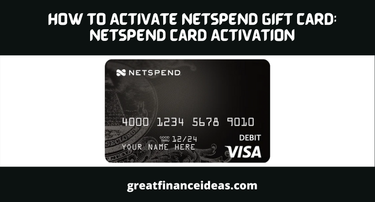 Activate Netspend Gift Card: Netspend Card Activation