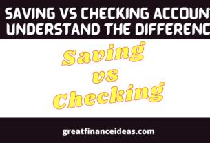 Saving vs Checking Account